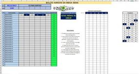 Planilha Para Bolão Amigos Bingo Mega Sena 500 Participantes