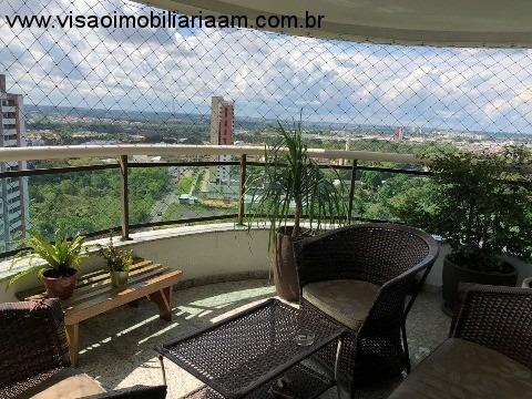 Vendo Lindo Apartamento No Bairro De Aleixo Conjunto Morada Do Sol Ótima Localização Condomínio Maison Verte. 176 M2. 4 Suítes, Sala De Estar, Sala De Jantar, Home, Cozinha, Área - Ap00818 - 32720726