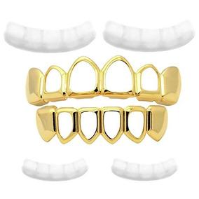 Grillz Dental 6ix9ine Cor Ouro Hip Hop Vazado