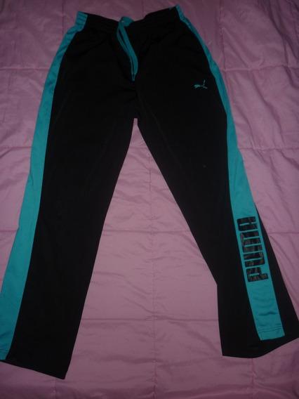 E Pantalon Jogging Puma Negro Azul Art 15211