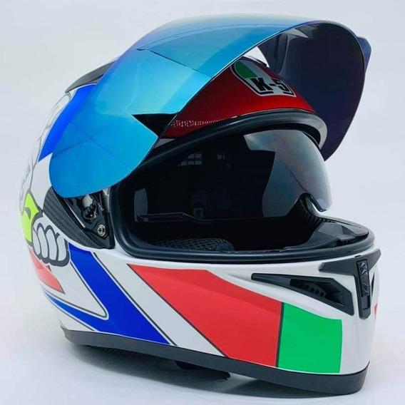 Promoção Capacete Valentino Rossi K5 Dog Promoção Model Novo