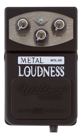Pedal De Efeito Waldman Metal Loudness Mtl-3r P/ Guitarra Nf