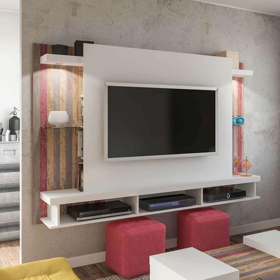 Painel Para Tv 47 Polegadas Maximus Branco E Antique 200 Cm
