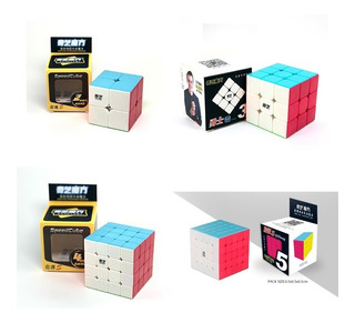 Pack 4 Cubos Speed Rubik Qiyi 2x2 + 3x3 + 4x4 + 5x5 Original