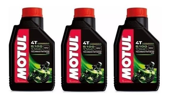 3 Oleo Motul 5100 10w40 + Filtro Mahle Dl650 Bandit Srad Dl