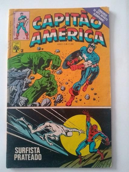 Capitão América Nº 2 - Ed. Abril - 1979 -rara-frete Grátis !