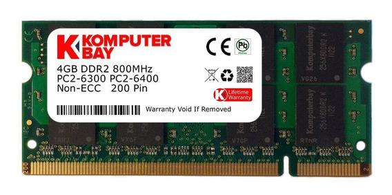 Memoria Ram 4gb Ddr2 800mhz Pc2-6400 Sodimm Komputerbay