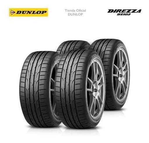 Kit X4 Cubiertas 225/40r18 (92w) Dunlop Direzza Dz102