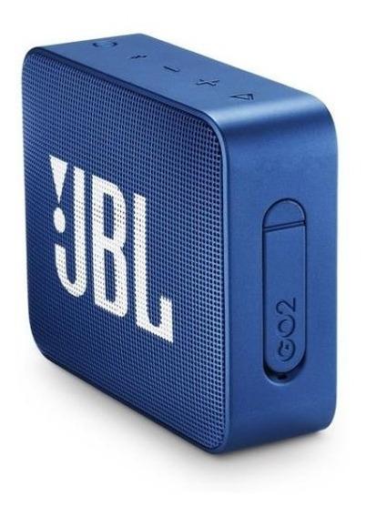 Caixa De Som Jbl Go 2 Bluetooth 3 Watts Prova Água Azul