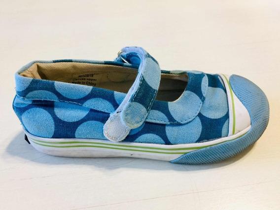 Zapatos Nena De Lona Y Suela Goma Import. Talle 27