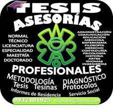 Asesoría Y Consultoría Integral ¡tesis!