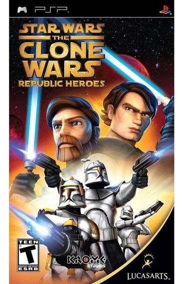 Star Wars Clone Wars Republic Heroes / Psp - Novo E Lacrado!