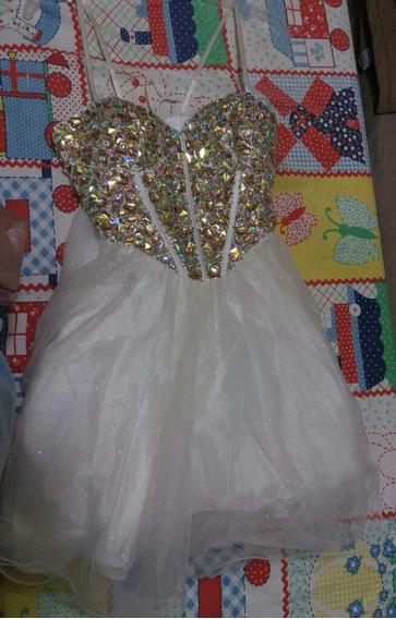 Vestido De Fiesta Con Pedreria Nuevo