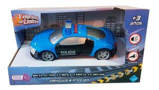 Auto De Policia De La Ciduad A Friccion Con Luz Y Sonido