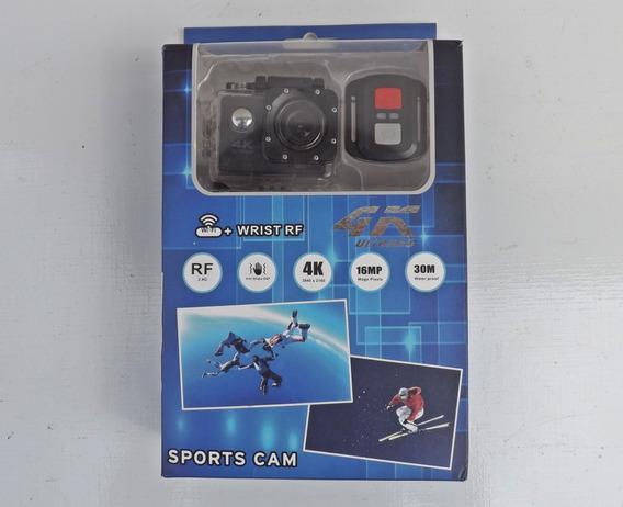 Câmera De Ação + Controle + Carregador + 3 Baterias - Gopro