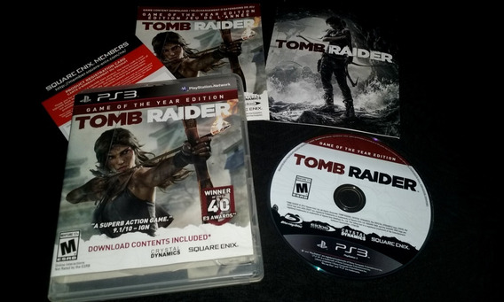 Jogo Ps3 Tomb Raider: Game Of The Year Edition Mídia Física