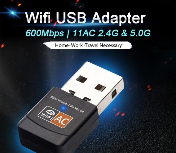 Adaptador Usb Wifi 600 Mbps Ethernet Antena Wi-fi Usb Recept