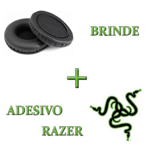 Almofadas Espumas Fone Headset Razer Kraken Neon + Brinde