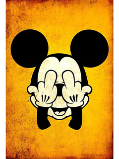 Placa Quadro Decorativo 60x40cm Retro Vintage Mickey Mouse
