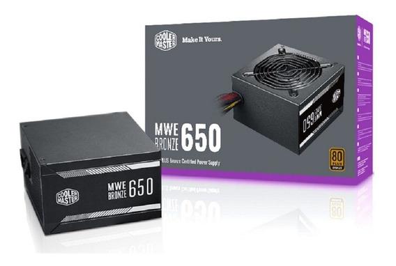 Fonte Cooler Master Mwe 650w White, 80 Plus Standard