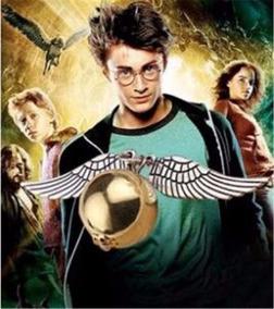 Colar Pomo De Ouro-harry Potter Folheado