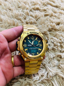 Relógio Masculino Dourado Gravado Pesado Lançamento Barato!!