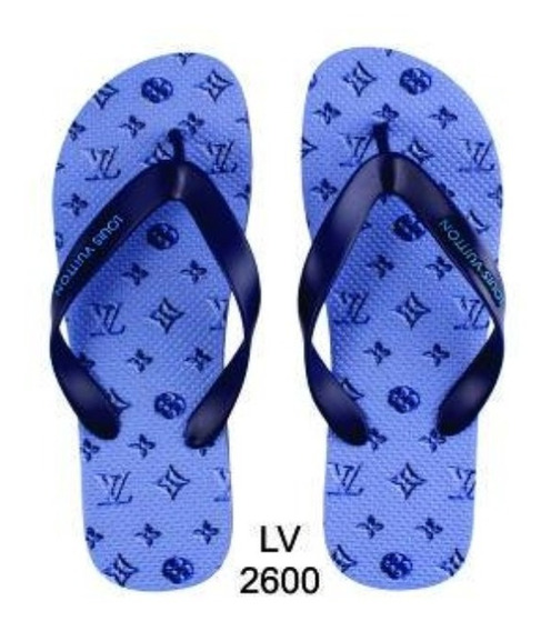 12 Pares Chinelo Louis Vuitton