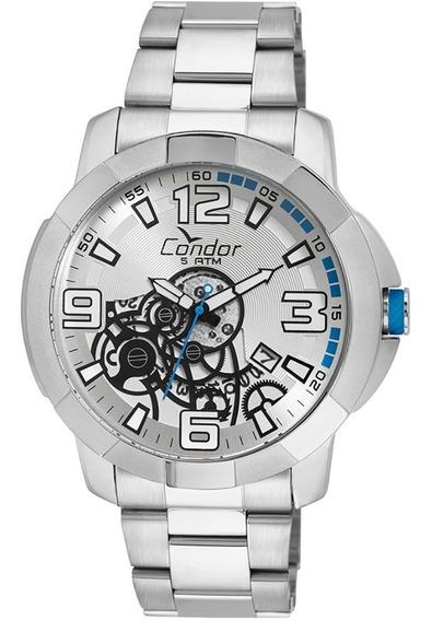 Relógio Condor Prata Ferragens Co2415bj/3k Garantia Nf
