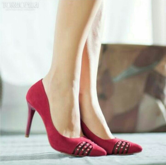 Sapato Scarpin Torricella Vermelho - Tamanho 39