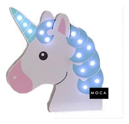 Lámpara Velador Led, Unicornio Pony Decoración, Niños, Bebe
