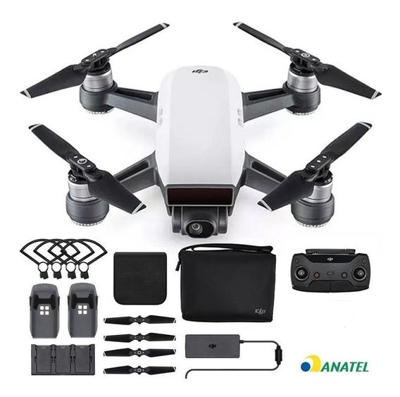 Drone Dji Spark Fly More Combo 4 Baterias +vários Acessórios