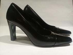 Zapatos Gacel, Punta Y Taco Charol, Comodos.
