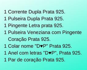 Conjunto De Joias Prata 925