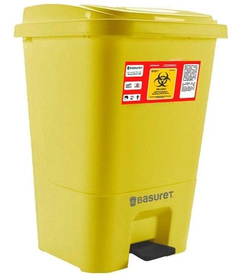 Bote De Basura Con Tapa De Pedal Residuos Rpbi 17lt Amarillo