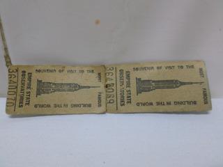 Ticket Empire State New York Visita Souvenir Boleto Entrada