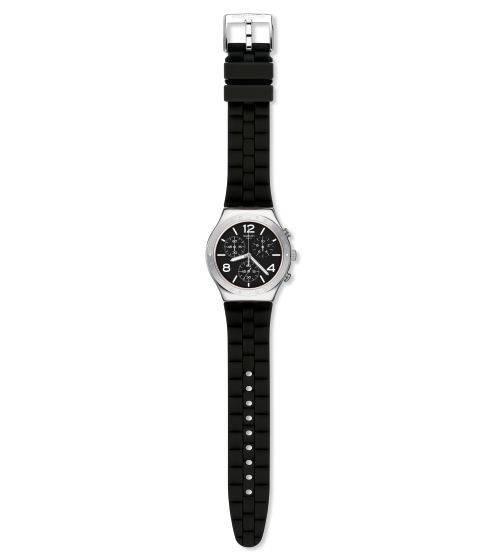 Relógio Swatch Noir De Bienne Ycs116 Silicone Preto Original