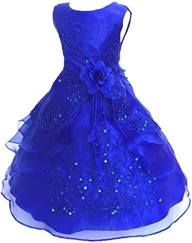 Vestido Para Boda Xv Fiesta Pagesito Bordados Azul Rey