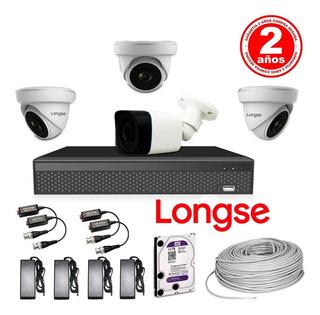 Kit Cctv Longse Xvr 1080n 8 Ch + 4 Cámaras De Seguridad 2 Mp