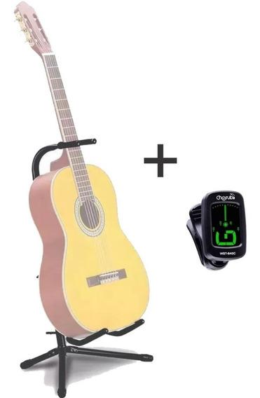 Suporte Violão Chao Guitarra Baixo Mellody J31 + Afinador
