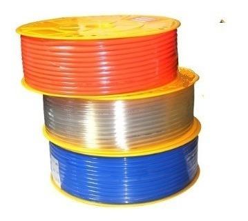 Rollo De Manguera De Poliuretano Azul, Naranja, Traparente