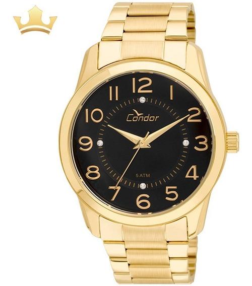 Relógio Condor Feminino Co2039ab/4p Com Nf