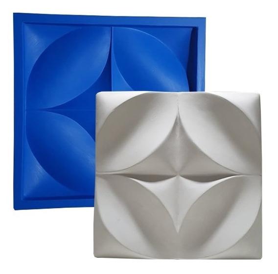 Forma Floral Borracha E Plástico Placa Gesso - Lindissímo