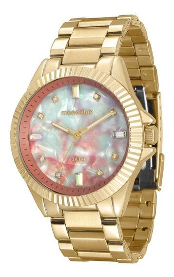 Relógio Feminino Mondaine 76642lpmvde1 Dourado Madre Perola