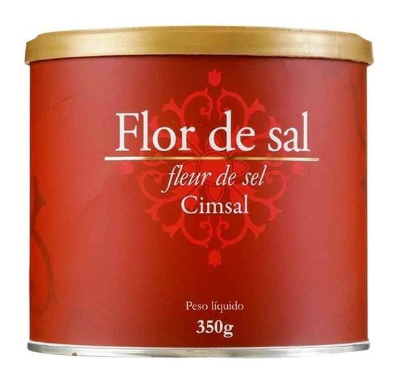 Flor De Sal Cimsal 350g Natural Menos Sodio - Caixa 18x350g