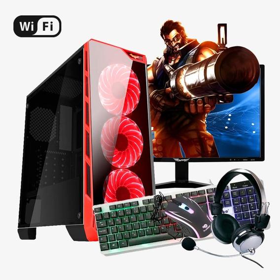 Pc Gamer I7, 16gb Ram, Rx 570 4gb, Hd Ssd 480gb Completo Led