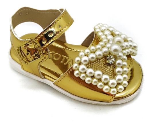 Sapatinho Bebe Sandália Infantil Feminina Laço Glitter