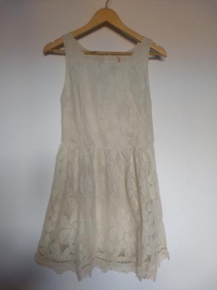 Vestido De Mujer Adolescente Color Natural. Usado Impecable!