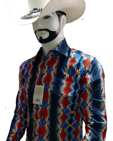 Camisa Vaquera Wrangler Checotah Y Retro