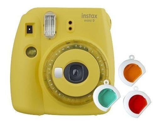 Câmera Instantânea Instax Mini 9 Amarelo Banana + 3 Filtros
