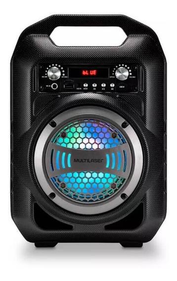 Caixa De Som Bluetooth Multilaser 6 Em 1 50w Rms Com Karaoke